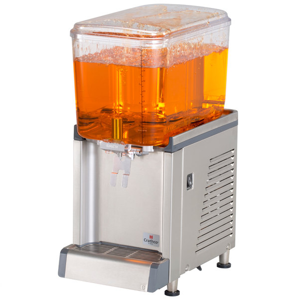 Crathco CS-1D-16S Simplicity Bubbler Series Single 4.75 Gallon Bowl Premix Cold Beverage Dispenser with Spray Function