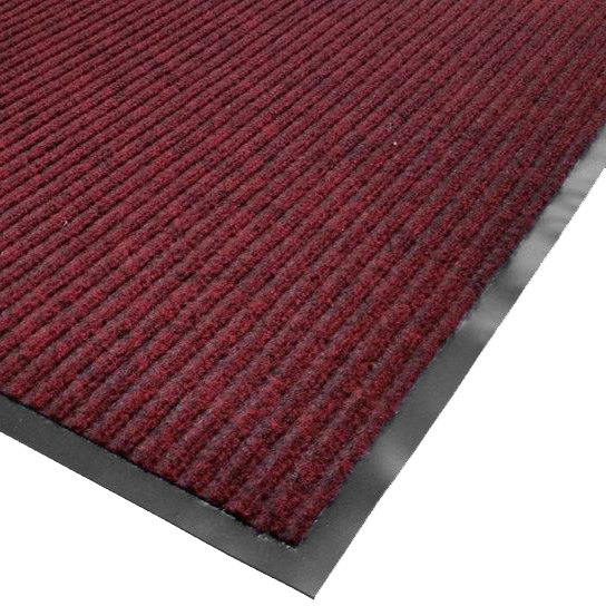 "Cactus Mat 1485R-R4 4' x 60' Red Needle Rib Carpet Mat Roll - 3/8"" Thick"