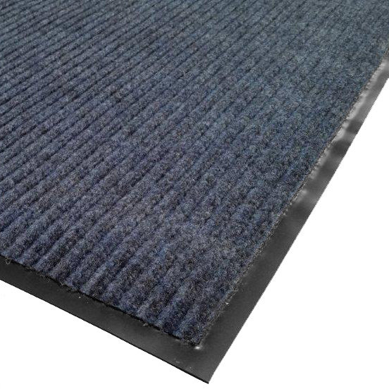 "Cactus Mat 1485R-U4 4' x 60' Blue Needle Rib Carpet Mat Roll - 3/8"" Thick"