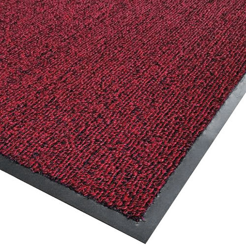 "Cactus Mat 1366M-R35 Vinyl-Loop 3' x 5' Red / Black Scraper Mat - 3/8"" Thick"