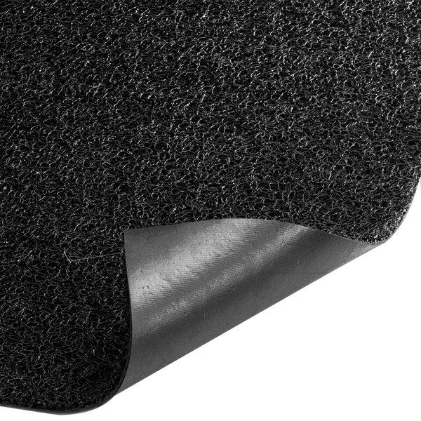 """Cactus Mat 1350M-C46 3M Nomad 4' x 6' Black Vinyl Scraper Mat - 3/8"""" Thick"""
