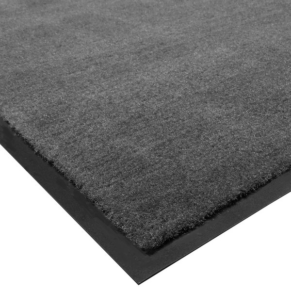Cactus Mat 1438R-L3 Tuf Plush 3' x 60' Olefin Carpet Entrance Floor Mat Roll - Charcoal