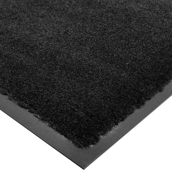 Cactus Mat 1438R-C4 Tuf Plush 4' x 60' Olefin Carpet Entrance Floor Mat Roll - Black