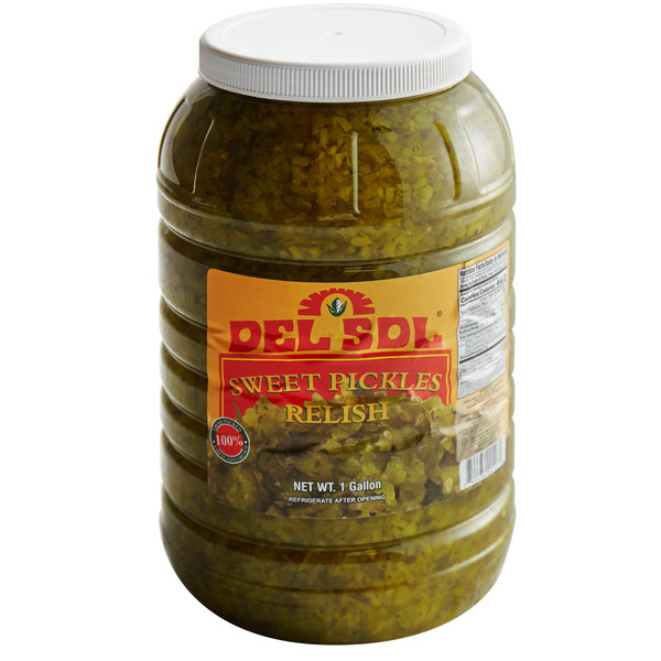 Del Sol 1 Gallon Sweet Pickle Relish 4 Case