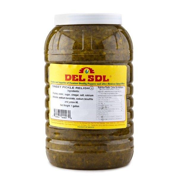 Del Sol 1 Gallon Sweet Pickle Relish - 4/Case