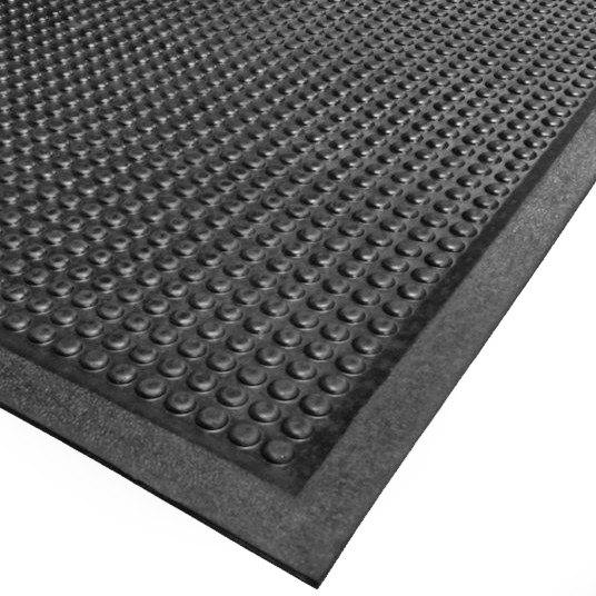 """Cactus Mat 2502-30120 30"""" x 120"""" Bubble-Eze Raised Bubble Safety Mat / Anti-Fatigue Mat - Black"""