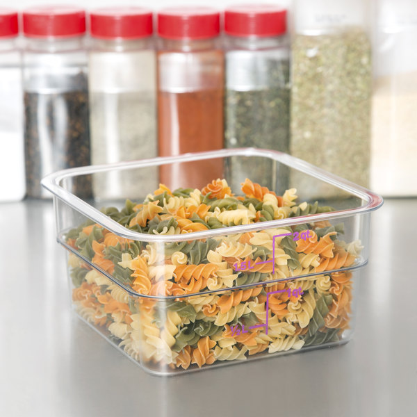 Cambro 2SFSCW441 CamSquare 2 Qt. Allergen Free Purple Food Storage Container