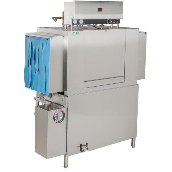 Noble Warewashing 44 Conveyor Low Temperature Dishwasher - Left to Right, 230V, 3 Phase