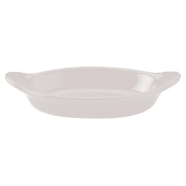 Hall China 5270ABWA Bright White 8 oz. Oval Rarebit / Au Gratin Dish - 24/Case