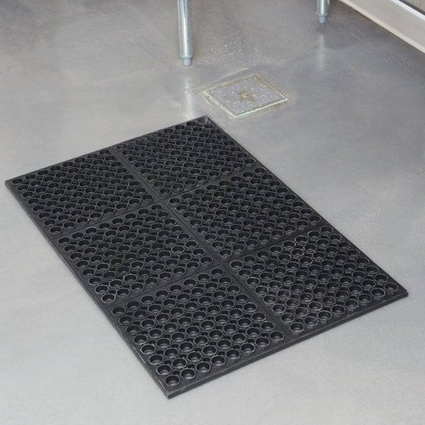 Cactus Mat 3525 C4 VIP TuffDek 3u0027 X 2u0027 Black Heavy Duty Rubber Anti Fatigue  Floor ...