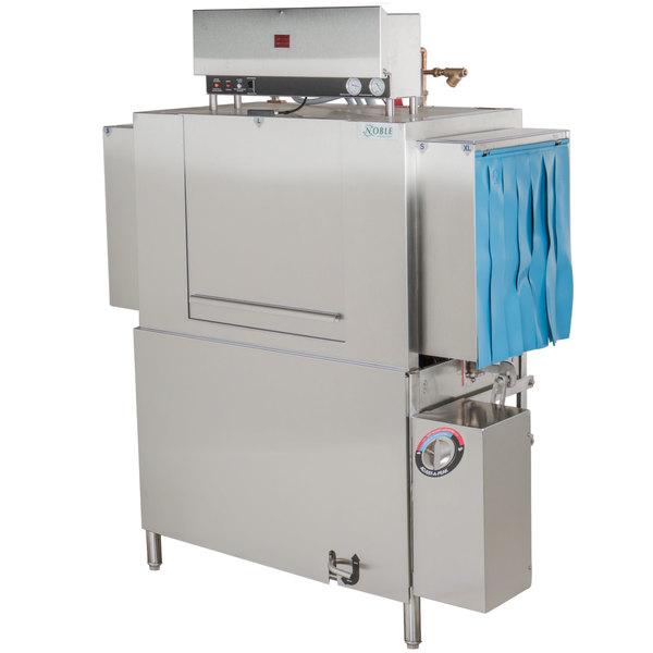 Noble Warewashing 44 Conveyor High Temperature Dishwasher - Right to Left, 230V, 3 Phase