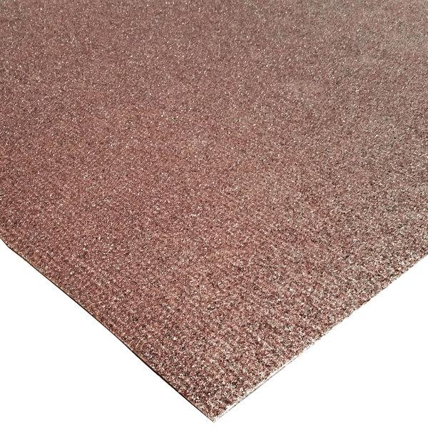 """Cactus Mat 1435R-B3 Slip-Gard 3' x 40' Brown Mineral-Coated Runner Mat Roll - 1/8"""" Thick"""