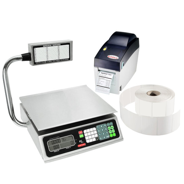 Tor Rey PC-80LT 80 lb. Price Computing Scale with Tower and Thermal Printer Kit, Legal for Trade Main Image 1