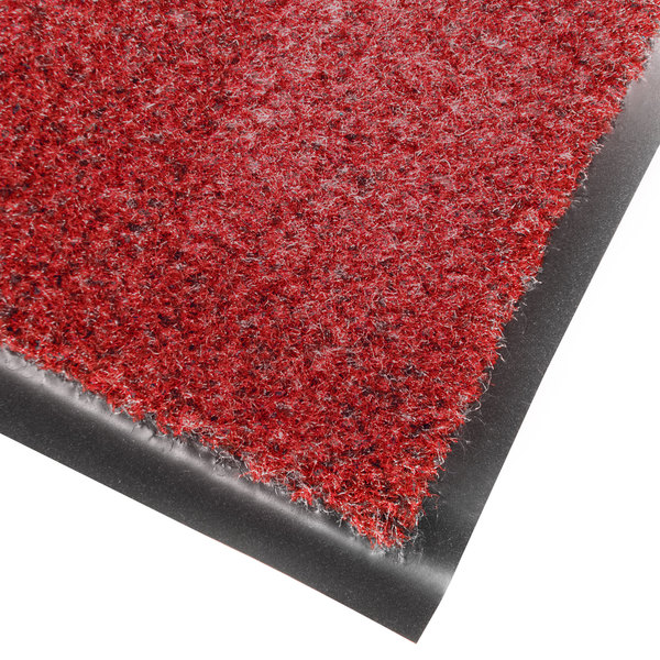 "Cactus Mat 1462R-R4 Catalina Premium-Duty 4' x 60' Red Olefin Carpet Entrance Floor Mat Roll - 3/8"" Thick Main Image 1"