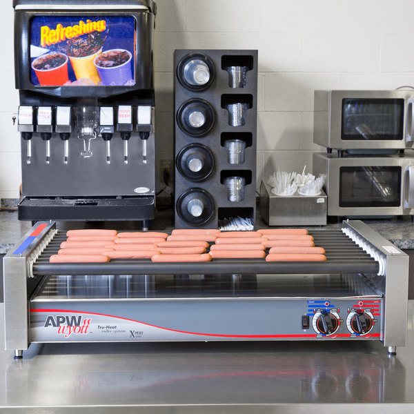 """APW Wyott HRS-50 Non-Stick Hot Dog Roller Grill 30 1/2""""- Flat Top 120V"""