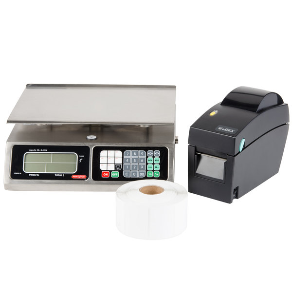 Tor Rey L-PC-40L 40 lb. Price Computing Scale with Thermal Printer Kit, Legal for Trade
