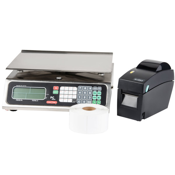 Tor Rey Price PC-40L 40 lb. Price Computing Scale with Thermal Printer Kit, Legal for Trade