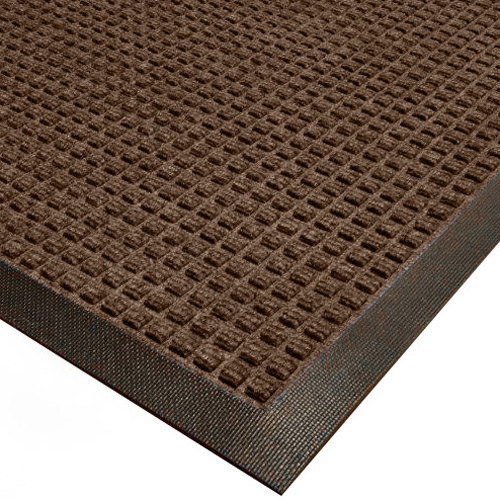 Cactus Mat 1425M-B46 Water Well I 4' x 6' Classic Carpet Mat - Walnut Main Image 1