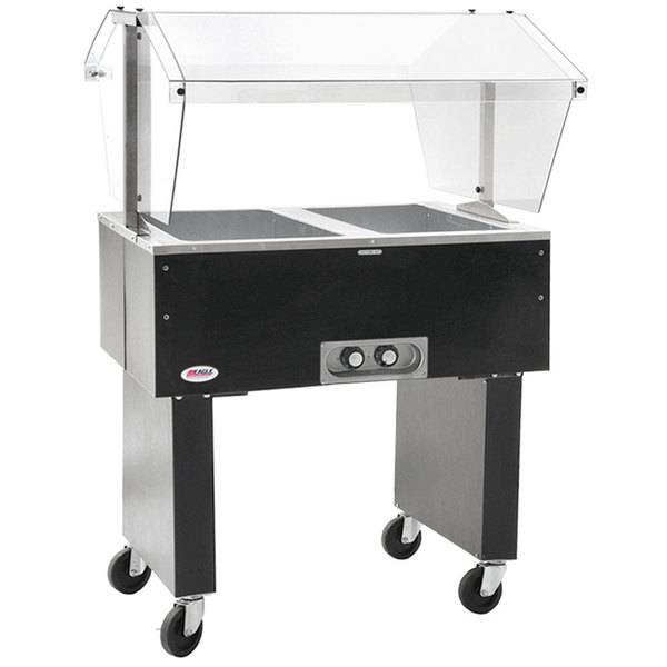 Eagle Group BPDHT2 Deluxe Service Mates Two Pan Open Well Portable Hot Food Buffet Table with Open Base - 240V, 3 Phase Main Image 1