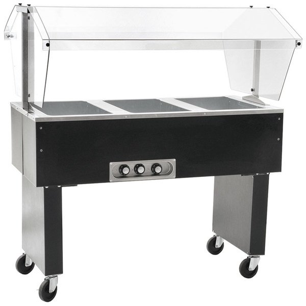 Eagle Group BPDHT3 Three Pan Deluxe Service Mates Portable Hot Food Buffet Table with Open Base - 120V