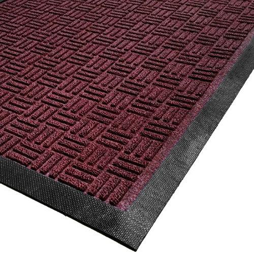 Cactus Mat 1426M-R31 Water Well II 3' x 10' Parquet Carpet Mat - Burgundy