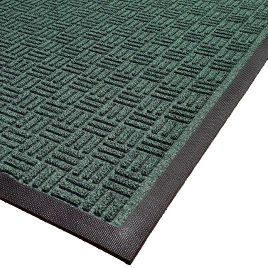 Cactus Mat 1426M-G46 Water Well II 4' x 6' Parquet Carpet Mat - Green Main Image 1
