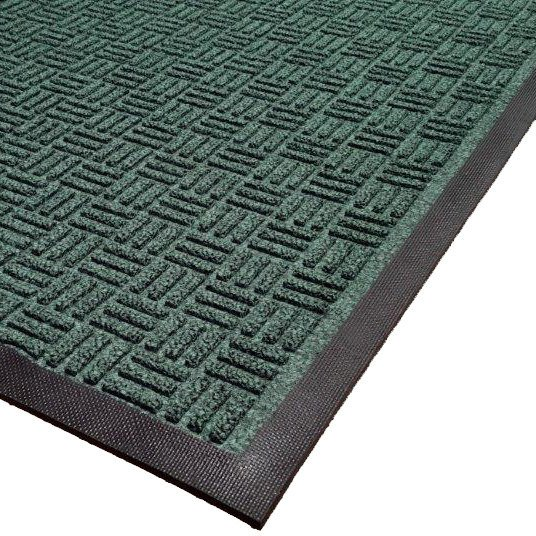 Cactus Mat 1426M-G31 Water Well II 3' x 10' Parquet Carpet Mat - Green Main Image 1