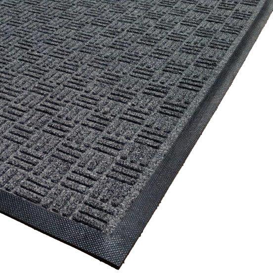 Cactus Mat 1426M-L31 Water Well II 3' x 10' Parquet Carpet Mat - Charcoal