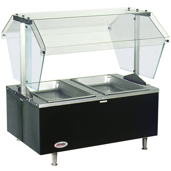 Eagle Group CDHT2 Deluxe Service Mates Two Pan Open Well Tabletop Hot Food Buffet Table with Enclosed Base - 240V, 1 Phase Main Image 1