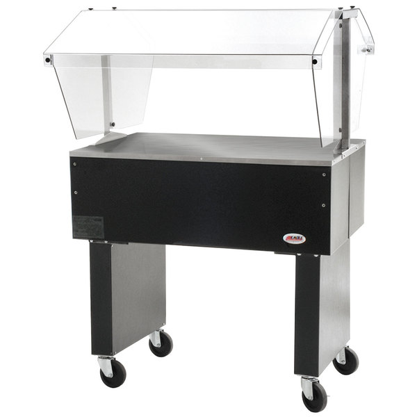 """Eagle Group BPST-2 33"""" Deluxe Service Mates Solid Top Buffet Table with Open Base Main Image 1"""