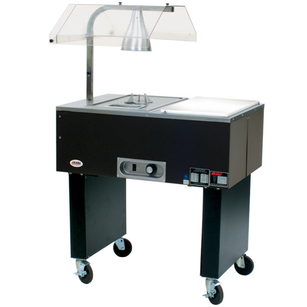 Eagle Group BC-1 Deluxe Service Mates One Pan Open Well Electric Buffet Beef Cart with Open Base - 120V