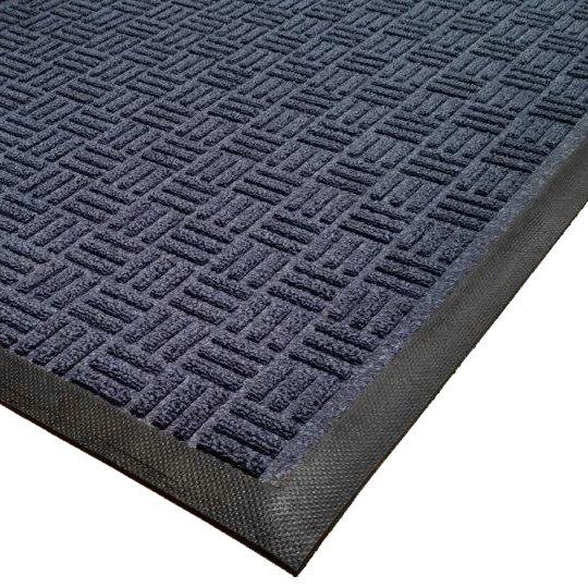 Cactus Mat 1426M-U41 Water Well II 4' x 10' Parquet Carpet Mat - Navy Main Image 1