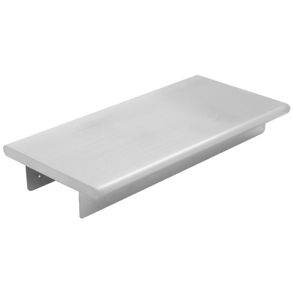 """Eagle Group PTS-2 Stainless Steel Tray Shelf for 33"""" Deluxe Service Mates Tables and Carts - 2/Pack"""