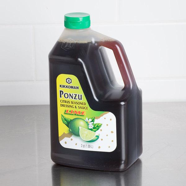 Kikkoman .5 Gallon Lime Ponzu Citrus Seasoned Dressing and Sauce