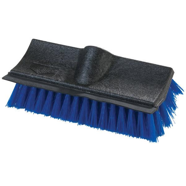 "Carlisle 3619014 10"" Hi-Lo Floor Scrub Brush with Squeegee"