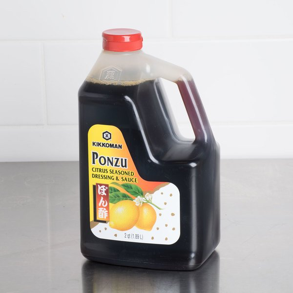 Kikkoman Ponzu Citrus Seasoned Dressing .5 Gallon Container - 6/Case