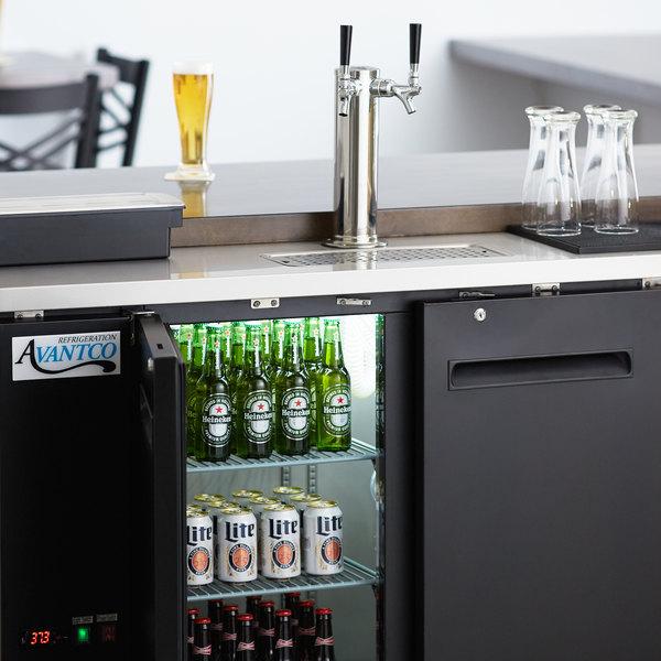 Avantco UDD-24-48 Double Tap Kegerator Beer Dispenser - Black, (2) 1/2 Keg Capacity Main Image 9