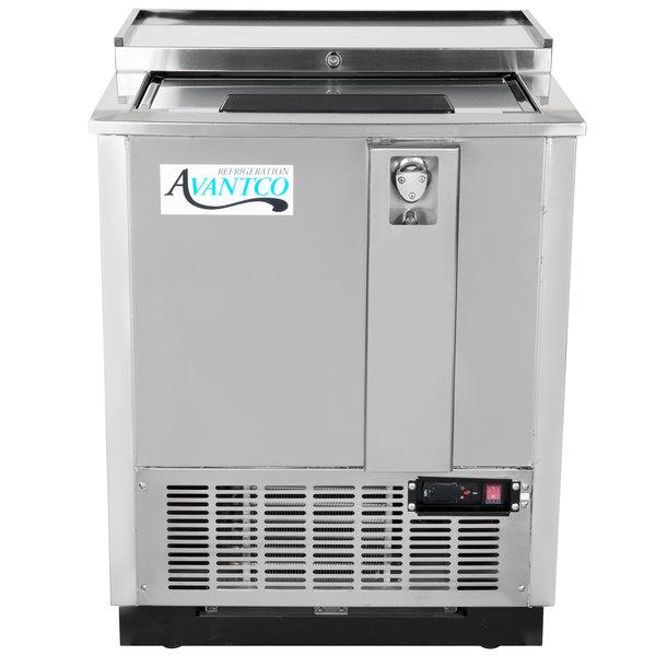 """Avantco JBC-25S 25"""" Stainless Commercial Horizontal Beer Bottle Cooler - 115V"""
