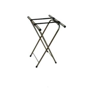 Aarco Chrome Tray Stand - 31 inch