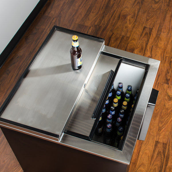 "Avantco JBC-25 25"" Black Commercial Horizontal Beer Bottle Cooler - 115V Main Image 5"