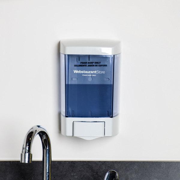 "46 oz. White Bulk Foam Hand Soap and Sanitizer Dispenser (IMP 9344) - 5 1/2"" x 4 1/4"" x 8 1/2"" Main Image 8"