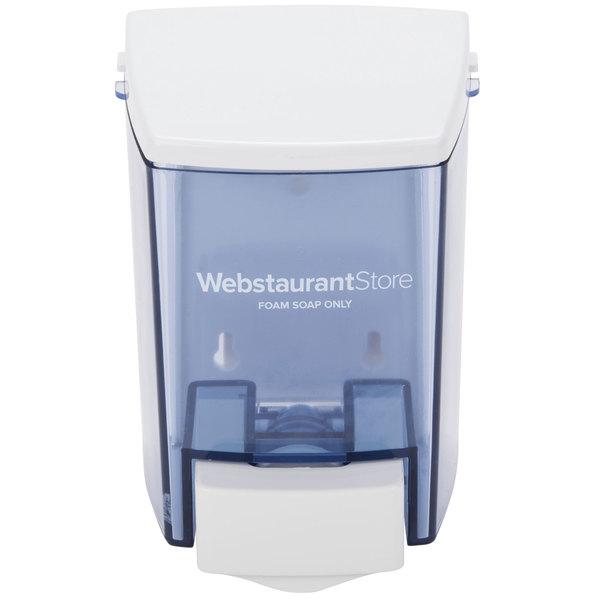 30 oz. White Bulk Foam Hand Soap and Sanitizer Dispenser (IMP 9335) - 4 1/2 inch x 4 inch x 6 1/4 inch