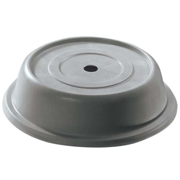 "Cambro 913VS191 Versa Camcover 9 13/16"" Granite Gray Round Plate Cover - 12/Case"