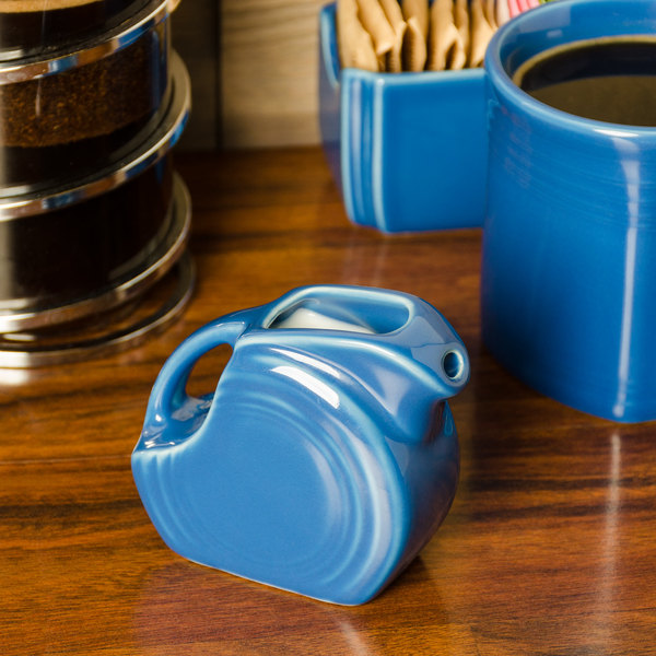 Homer Laughlin 475337 Fiesta Lapis 5 oz. Mini Disc Creamer Pitcher - 4/Case