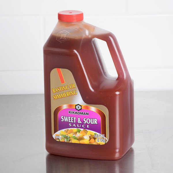 Kikkoman Sweet & Sour Sauce .5 Gallon Container - 6/Case