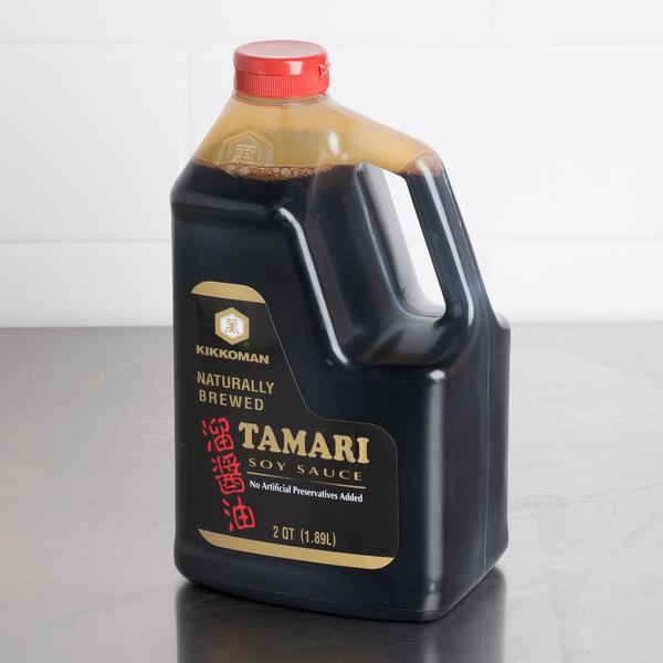 Kikkoman Tamari Soy Sauce .5 Gallon Container - 6/Case