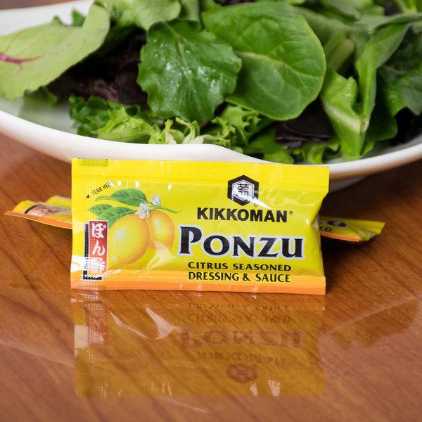 Kikkoman Ponzu Citrus Seasoned Dressing & Sauce 6 mL Packet - 500/Case