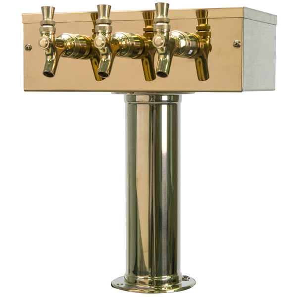 "Micro Matic D7743PVD PVD Brass 3 Tap ""T"" Style Tower - 3"" Column"
