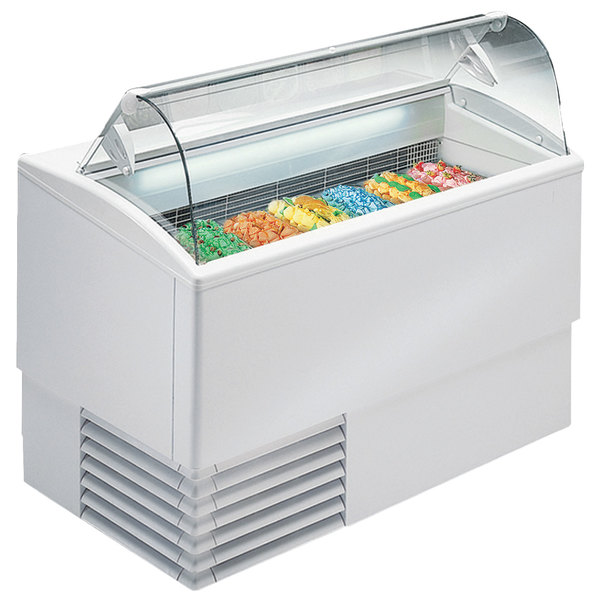 """Excellence PGC-7 53 1/2"""" Seven Pan Gelato Dipping Cabinet Main Image 1"""