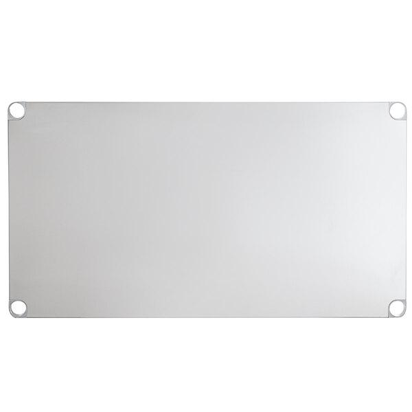 """Regency Adjustable Stainless Steel Work Table Undershelf for 30"""" x 48"""" Tables - 18 Gauge Main Image 1"""